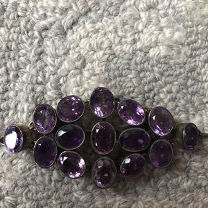 New Sterling Silver and Amethyst Bracelet
